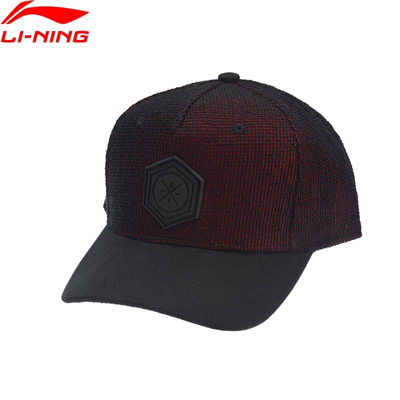 Li-Ning Men Wade Series Baseball Cap Polyester Cotton 56-60cm LiNing Comfortable Adjustable Sports Caps Hats AMYN131 EOND18