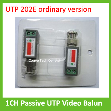Wholesale 20pieces/lot 1CH Passive UTP Video Balun Twisted Pair CCTV accessory