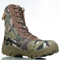 Outdoor Sport Army Men S Tactical Boots Camo Male Combat Shoes Military Leather Boots Enthusiasts Marine
