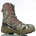 Esporte ao ar livre Dos Homens do Exército Tático Botas de Combate Camo Masculinos Sapatos Botas de couro Militares Entusiastas Marinhos Sapatos