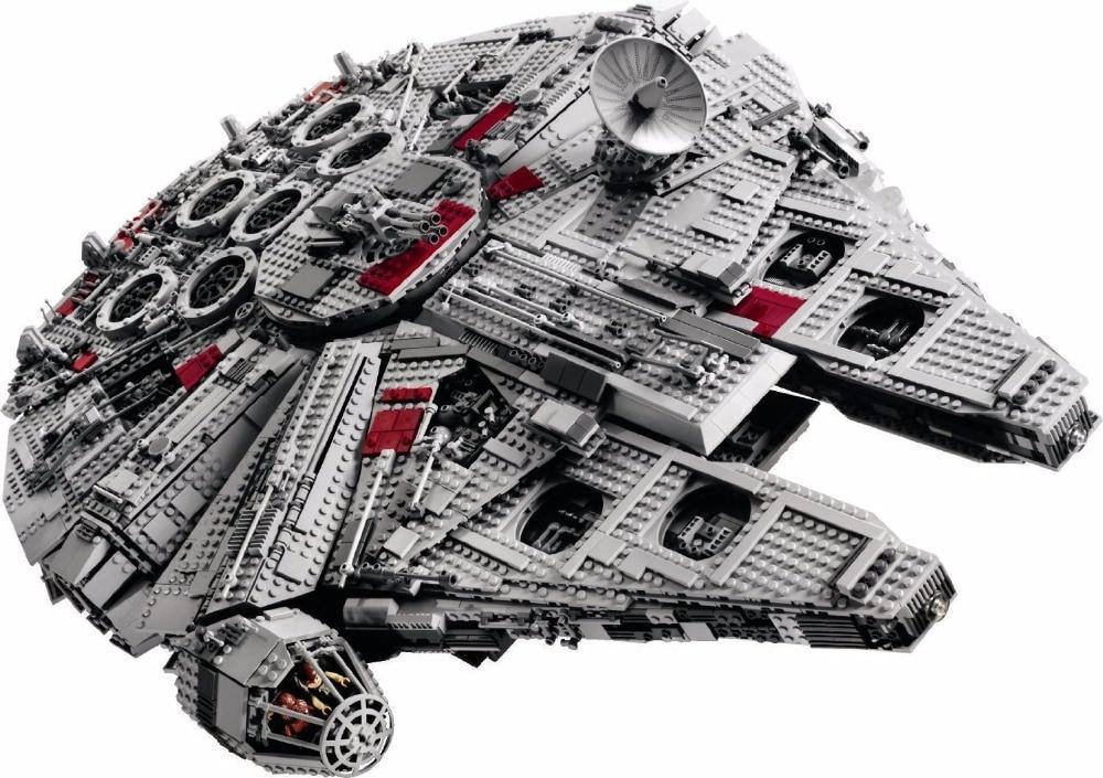 LEPIN STAR WARS Ultimate Collector's Big Millennium Falcon Model Building Blocks Kits Toy Minifigures Marvel Compatible Legoe