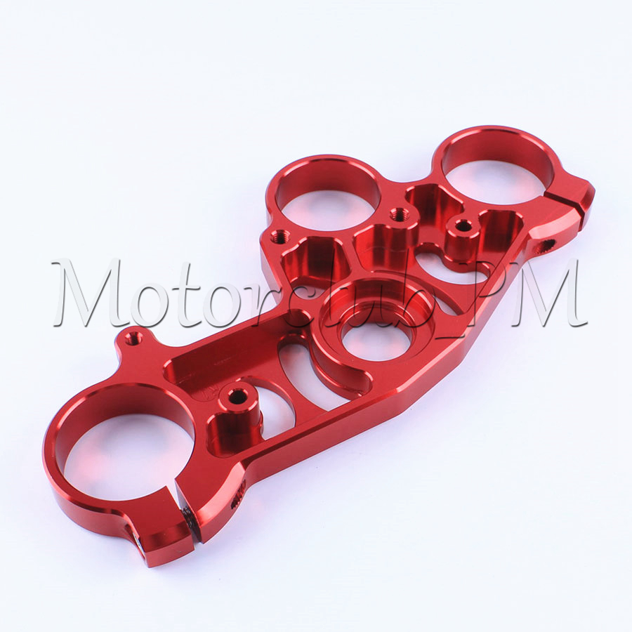 CNC High Quality  Front End Upper Top Clamp Triple Tree For Yamaha YZF R1 2004 2005 2006 Red Aluminum radiator protective cover grill guard grille protector for suzuki hayabusa gsxr1300 2008 2009 2010 2011 2012 2013 2014 2015 2017