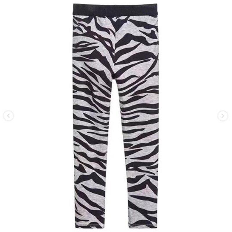 Girls Leggings Baby Girl Clothes Pencil Pants Cotton Kids Trousers Print Zebra Strips Children Leggings For Girls in stock random print leggings