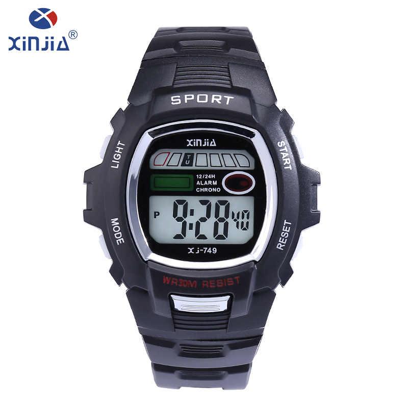 55b48ac71e5c XINJIA Top hombres de marca de lujo impermeable reloj de pulsera LED  cronometraje punto entero reloj