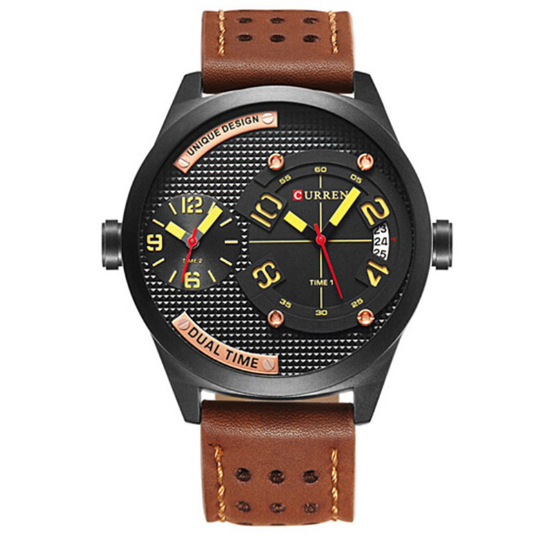 New 2019 Men Watch CURREN Top Brand Luxury Mens Quartz Wristwatches Male Leather Military Date Sport Watches Relogio Masculino in Quartz Watches from Watches
