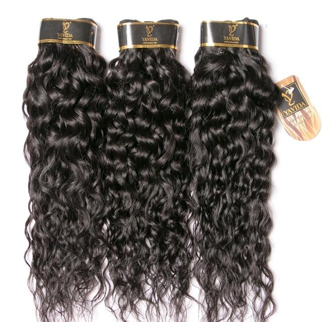 Brazilian Water Wave Bundles Brazilian Human Hair Weave Bundles Natural Hair Extensions Non Remy Hair 1/3/4 Pieces