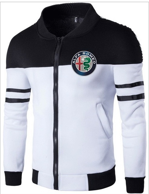 Alfa Romeo Printing Fashion Mens Jacket Stitching Design Male New