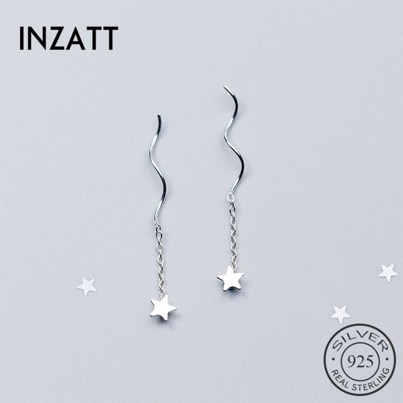 INZATT OL Chain Tassel Star Drop Earrings For Women  Charm  Wedding Party Fashion Jewelry New 2018 Style Gift Summer