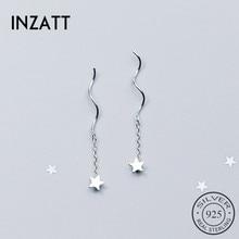 Drop-Earrings Charm Tassel-Star Fashion Jewelry Wedding Women Chain INZATT Party