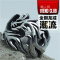 High quality Men Punk Vintage  supreme dragon ring 316L Titanium steel  Rock gothic Finger Ring Fashion man Jewelry bijouterie