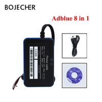 Adblue 8in1 업데이트 adblue 9 in 1 에뮬레이터 지원 nox 센서가있는 유로 6 adblue 9 in 1 에뮬레이션 박스 트럭 진단 도구