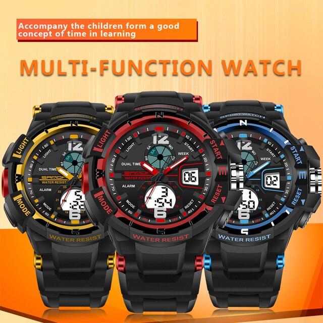 2017 New Children Watches Cute Kids Watches Sports Cartoon Watch for Girls Boys Rubber Children's Digital LED Wristwatches Reloj 5