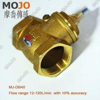 משלוח חינם! MJ-DB40 G11/2 מתג זרימת סוג ההנעה 10% פליז נחושת 84*53*115 מתג חיישן מפלס מים