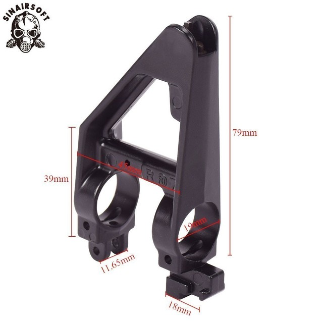 Tactical AEG Black Metal Triangle Front Sight For M4 Series Airsoft Paintball Shooting Accessories