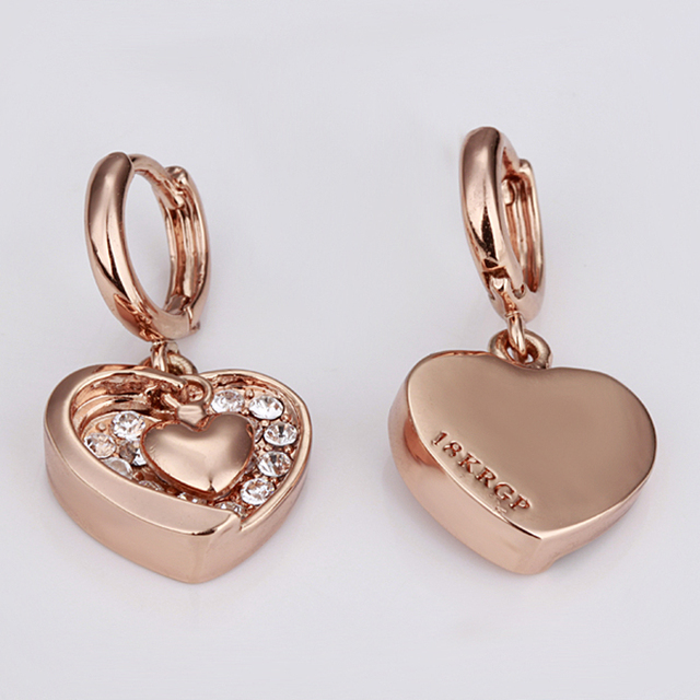 Valentine's Day Gift for Girlfriend Heart Pendant High Quality Women Dangle Earring Heart Shape Drop Earring Fashion Jewelry 5