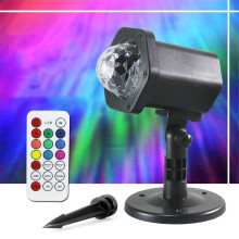 цены EU US UK Plug-in Stage Light 7 Color Water Ripples Projector Ocean Wave Strobe Lamp LED Disco Dj Party Lights with Remote