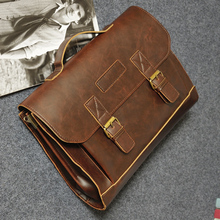 Crazy Horse Pu Leather Men's Bags Business Shoulder