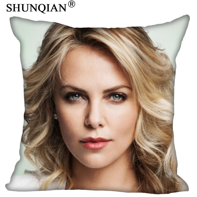 New Home pillow Cover 18x18 Inch Charlize Theron Pillowcase Zippered Two Sides Print Cuatom pillow cases Housse de Coussin|Pillow Case|   - title=