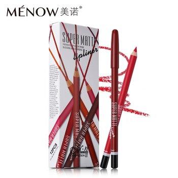 100Sets/Lot  MENOW 12pcs/Set Super Matte Lip Liner Set Lip Makeup Pencils for Lips Lipliner Pen Waterproof & Long Lasting