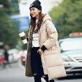 Минус 60 градусов Тепло L-3xl Очень толстый русский парка женская Хорошее качество плюс размер Черный Хаки Army Green ветровка женская мода длинный рукав куртка бомбер пальто 1498