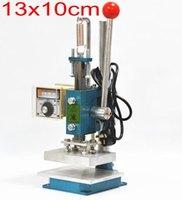 New Hot stamping máy da deboss máy 2 trong 1 (13x10 cm) 220 V + Customized stamp die + Hot Lá Mỏng một cuộn