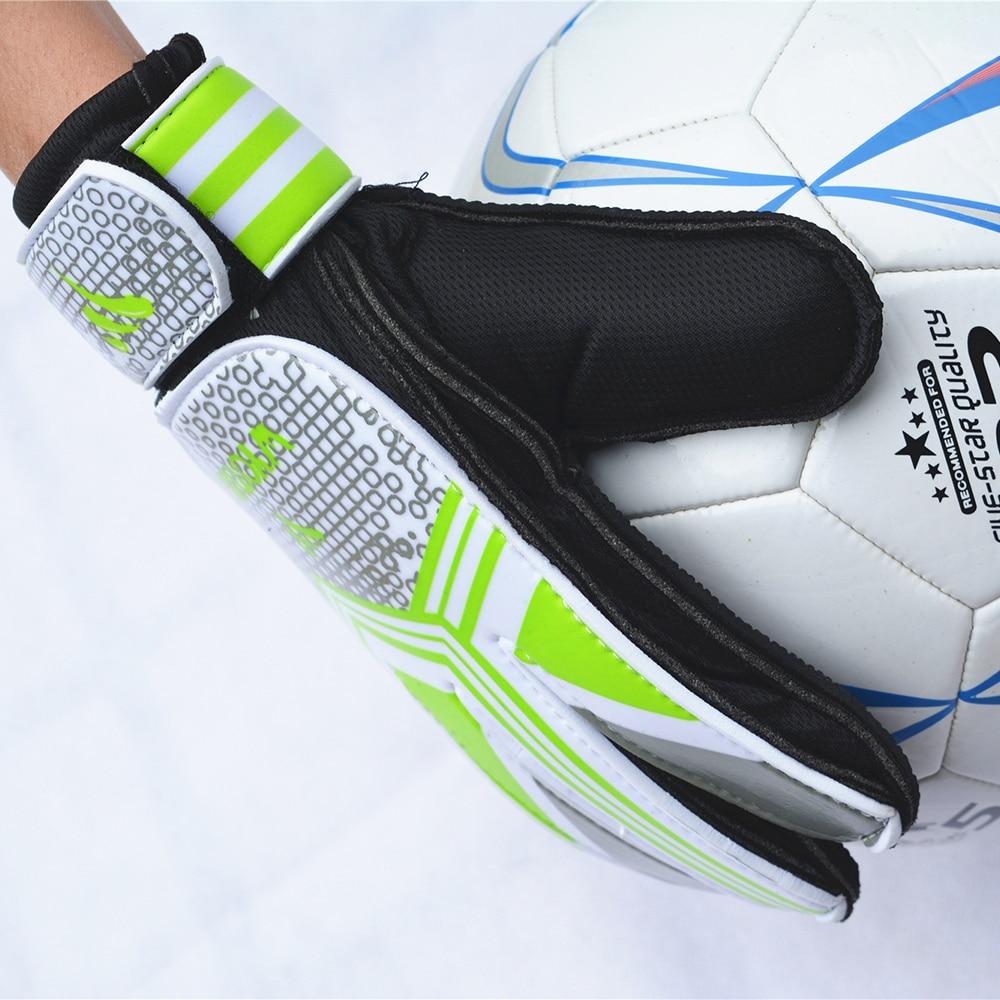 WYOTURN Children Soccer Goalkeeper Gloves Football Professional 5 Finger Protection Guante De Arquero Kids Goal Keeper Gloves(China)
