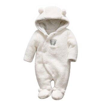 100% Qualität suche nach authentisch neu authentisch Winter Neugeborenen Baby Kleidung Bär Onesie Korallen Samt Baby Strampler  Mit Kapuze Overall Overalls Baby Warm Junge Mädchen Fleece Kleidung