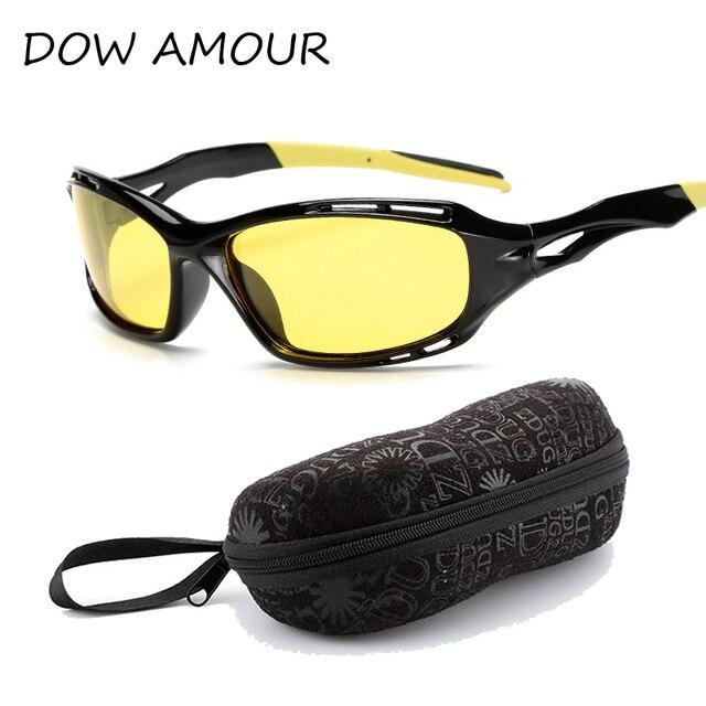 ff8832de204000 DOW AMOUR Drive Mens Zonnebril Gepolariseerde Zonnebril Geel Lens  Nachtzicht Rijden Goggles Verminder Glare met pakket