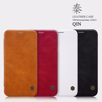 Flip Leather Leather Case For For Samsung Galaxy J7 2017 Window Sensitive PET Material Answer