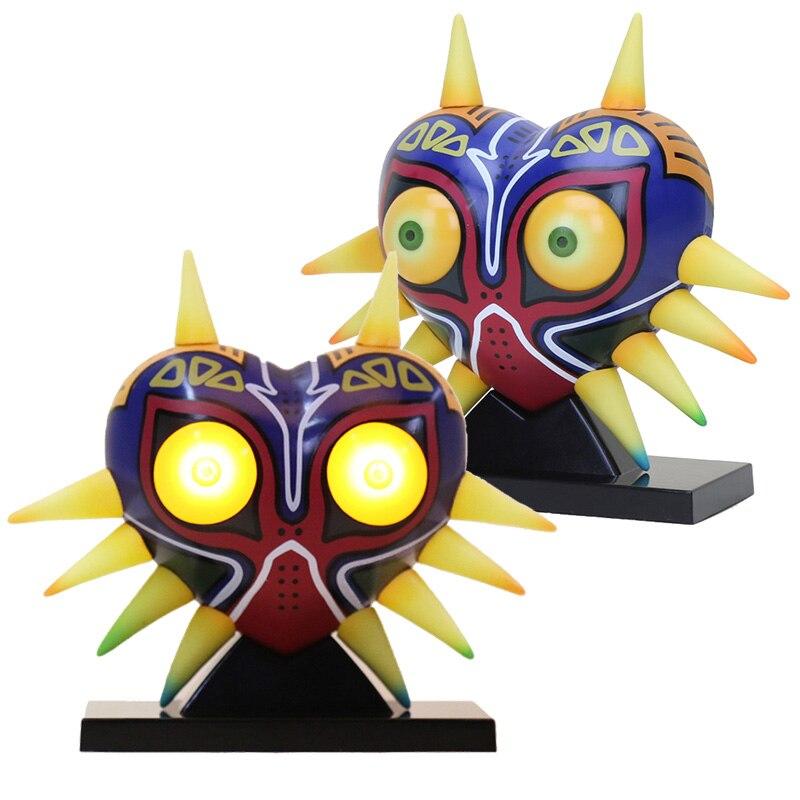 A lenda de zelda crânio miúdo majoras máscara figura de ação 3d led nightlight link anime jogo brinquedo presente natal modelo brinquedo