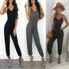 2018 explosion models ladies clothing jumpsuit explosion models Europe and the United States loose casual fashion jumpsuit