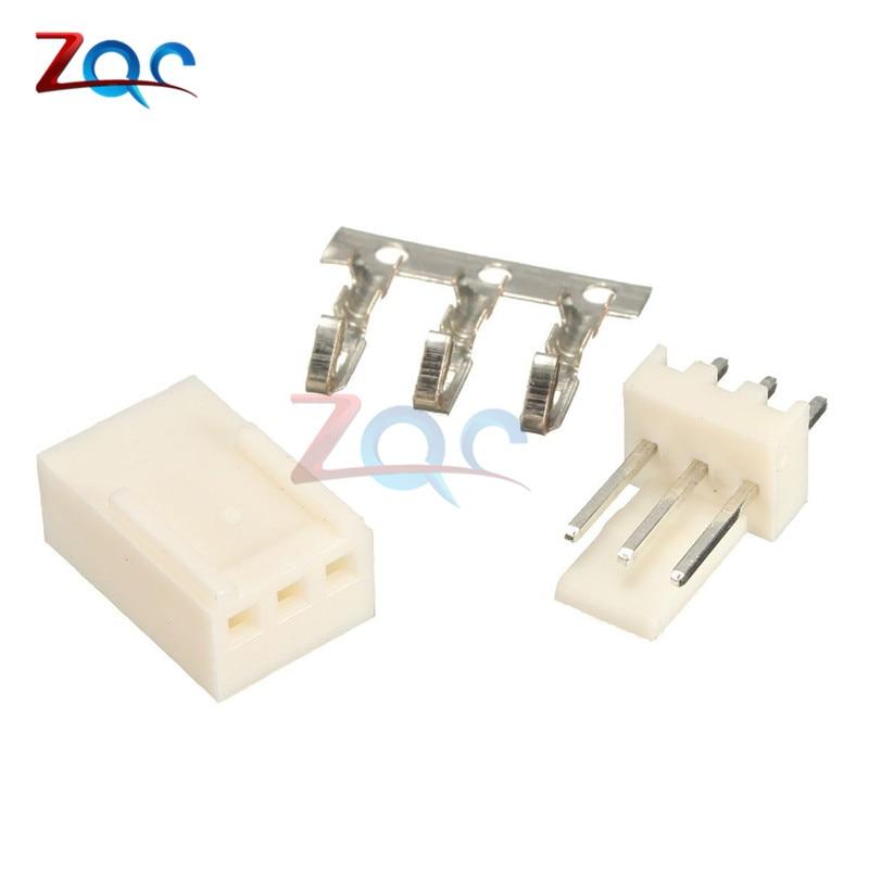 50PCS Kit3 Pin KF2510-3P KF2510 3P 2.54mm Pitch Terminal Housing Pin Header Connectors Adaptor Kits