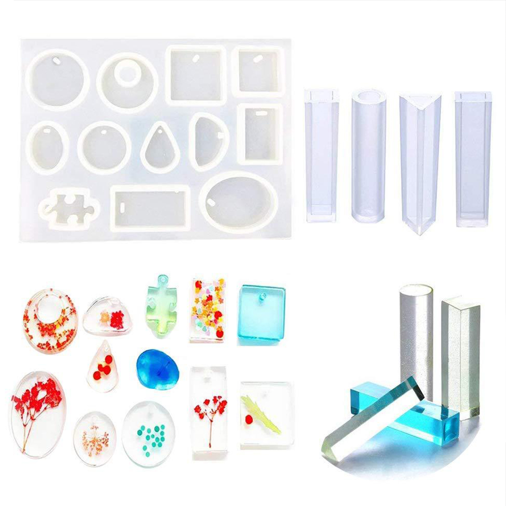 5 In 1 Earring Crystal Bracelet Pendant Mold Set Silicone DIY Water Drop Epoxy Resin Casting Craft Handmade Tools Jewelry Making