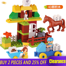 Low Price Big Sale Large Building Block Toys for Toddlers Family House Educational Preschool Duplo Block Compatible with Logo цены