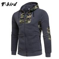 T Bird 2018 Hoodie Men Cardigan Camouflage Printing Hip Hop Sweatshirt Men S Hoodies Autumn Winter