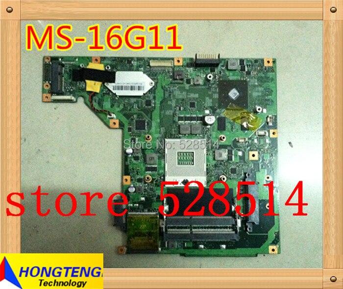 original Laptop Motherboard For MSI MS-16G11 MS16G11 Mother board 100% Test ok платформа для сборки неттопа gigabyte brix gb bsi7a 6600 core i7 6600u 2 6ghz hd graphics 520 noos black