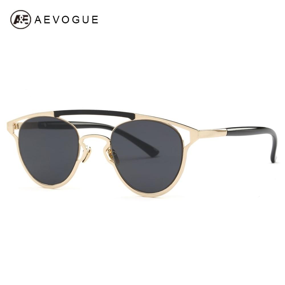 AEVOGUE Sunglasses Women Brand Designer Cat Eye Copper Frame Summer Style  Acetate Temple Sun Glasses UV400 With Box AE0461 f8fc579903