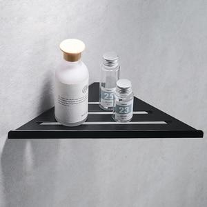 Image 2 - Bathroom Kitchen Storage Shelf Wall Mounted Stainless Steel Shower Caddy Rack Brushed Nickel Black Commodity Holder