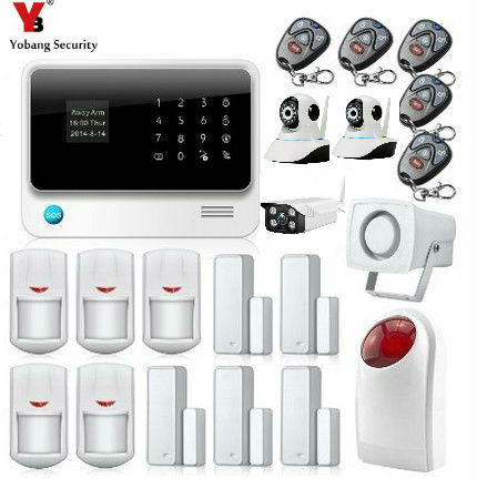 Yobang Security 100 Wireless Zones GSM SMS WIFI Home Alarm Camera Surveillance Strobe Siren LCD Display Security Alarm System yobang security wireless wired gsm wifi intelligent security system indoor outdoor camera surveillance home security alarm kits