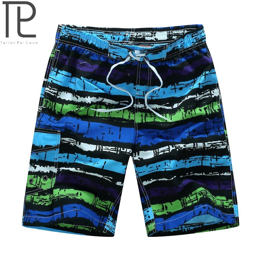 Tailor Pal Kärlek Mens Beach Shorts Casual Striped Print Män Snabb - Herrkläder - Foto 1