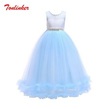 Christmas Girls Princess Cosplay Big Kids Dress Girl Sleeveless Bridal Gown Prom Dress Kids Party Pageant Ball Gown Dress princess fluffy dress for girls pageant dress floral kids evening ball gown long girls prom dress pink party dress for girls