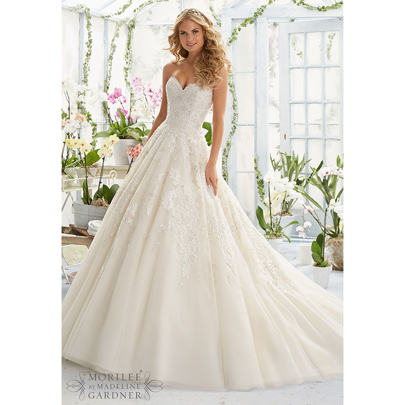 Beautiful Princess Wedding Gowns: Aliexpress.com : Buy Princess Lace Wedding Dresses 2808