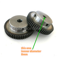 J548b Module 1 Firm DIY Model Making Gears Inner Hole Diameter 8mm Large 45 Steel Gears