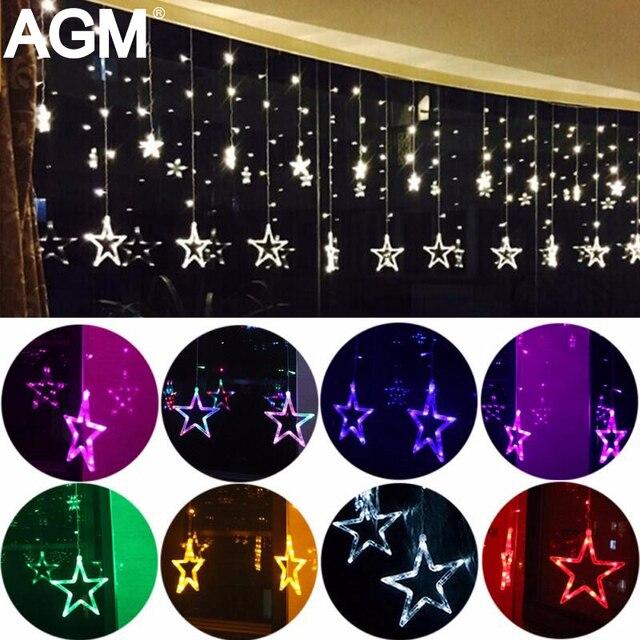 2 M AC 220 V UE Romanrtic Estrella de Hadas LED de Interior Al Aire Libre Cortina de la Secuencia de Iluminación Del Banquete de Boda De Vacaciones de Navidad decoración