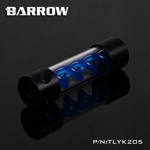 Купить с кэшбэком BARROW 205mm X 50mm Double Helix T-Virus Cylindrical Water-Cooled Coolant Tank Light System POM+PMMA Black Cover light