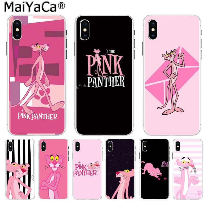 MaiYaCa Korea różowa pantera Panthera niegrzeczna na sprzedaż! Luksusowa fajna obudowa do iPhone 8 7 6 6S Plus X 10 5 5S SE XS XR XS MAX