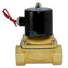 Высокое качество 2 разъём(ов) электромагнитный клапан NPT1.25 » AC 220 В прямого воздушного 1000wog нормально закрытым латунь электрический