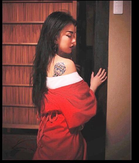 Japanese Custom Made Inner Kimono Beautiful Woman Sexy Dress Red White Performance Kimono Woman Shoot Clothing