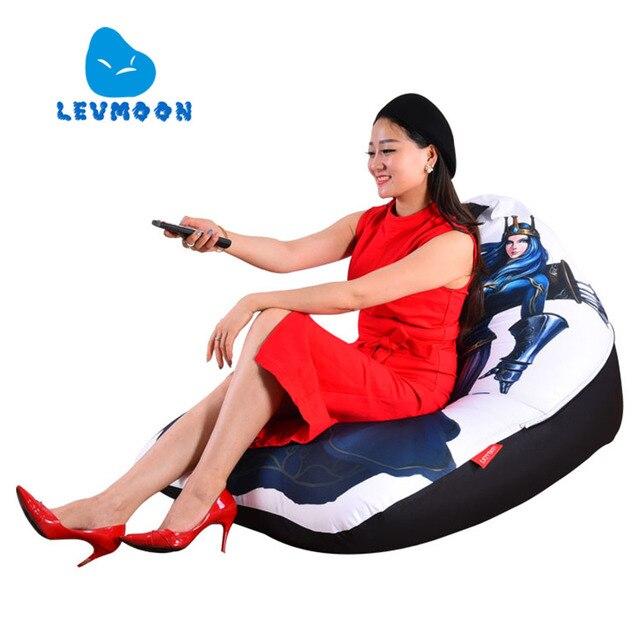 LEVMOON Beanbag Cadeira Do Sofá Shell Archer Zac Conforto Do Assento do Saco de Feijão Tampa de Cama Sem Enchimento de Algodão Lounge Chair Beanbag Interior