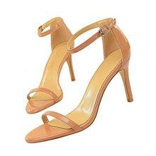 klasik Rendah Sandal Glossy